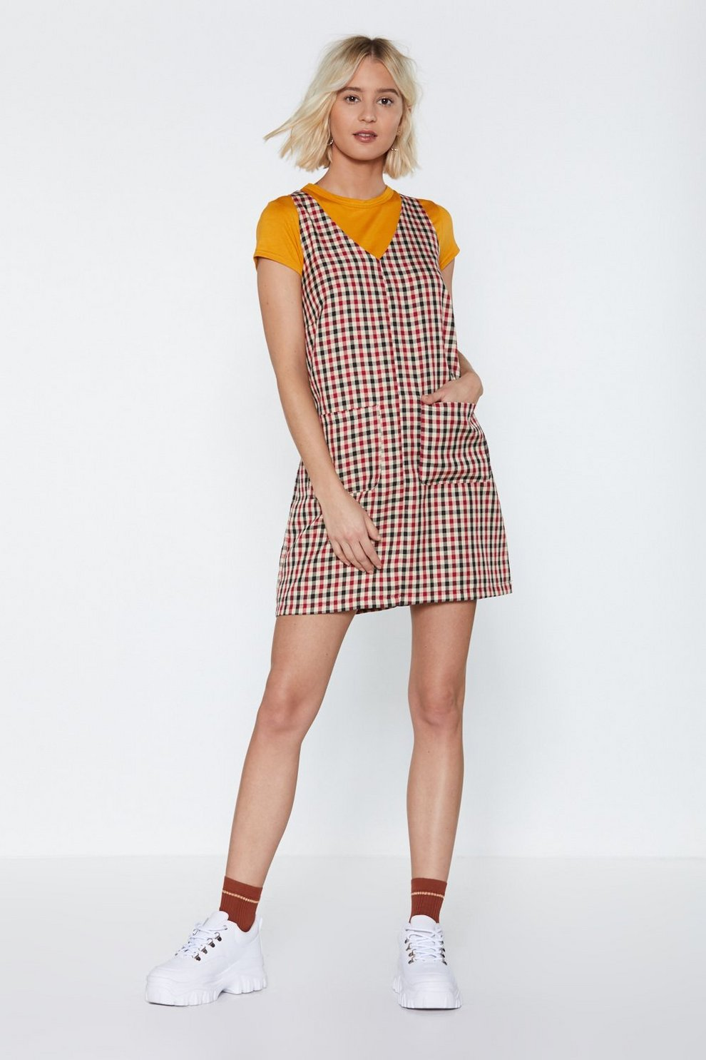 78fc00ee36f Plaid Games Pinafore Dress | Shop Clothes at Nasty Gal!