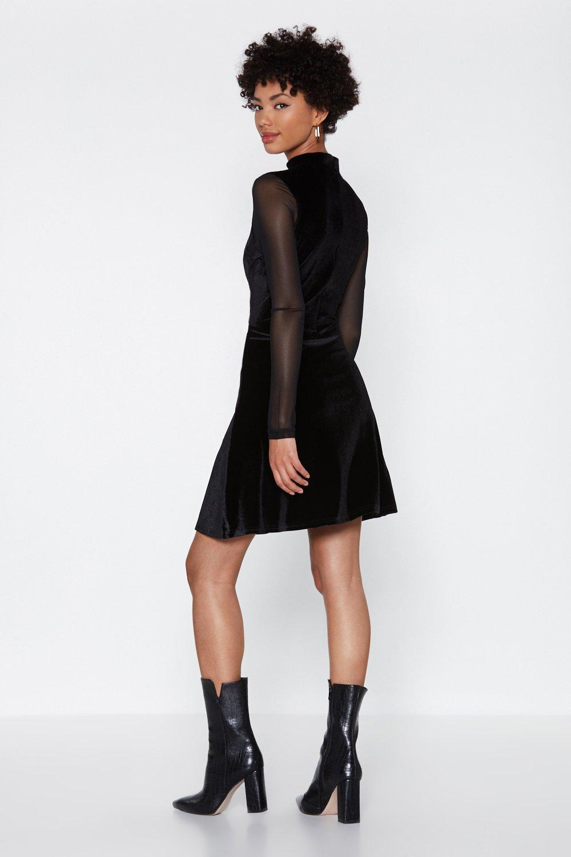 bd5213d5bfb Womens Black Swing Dance Velvet Dress