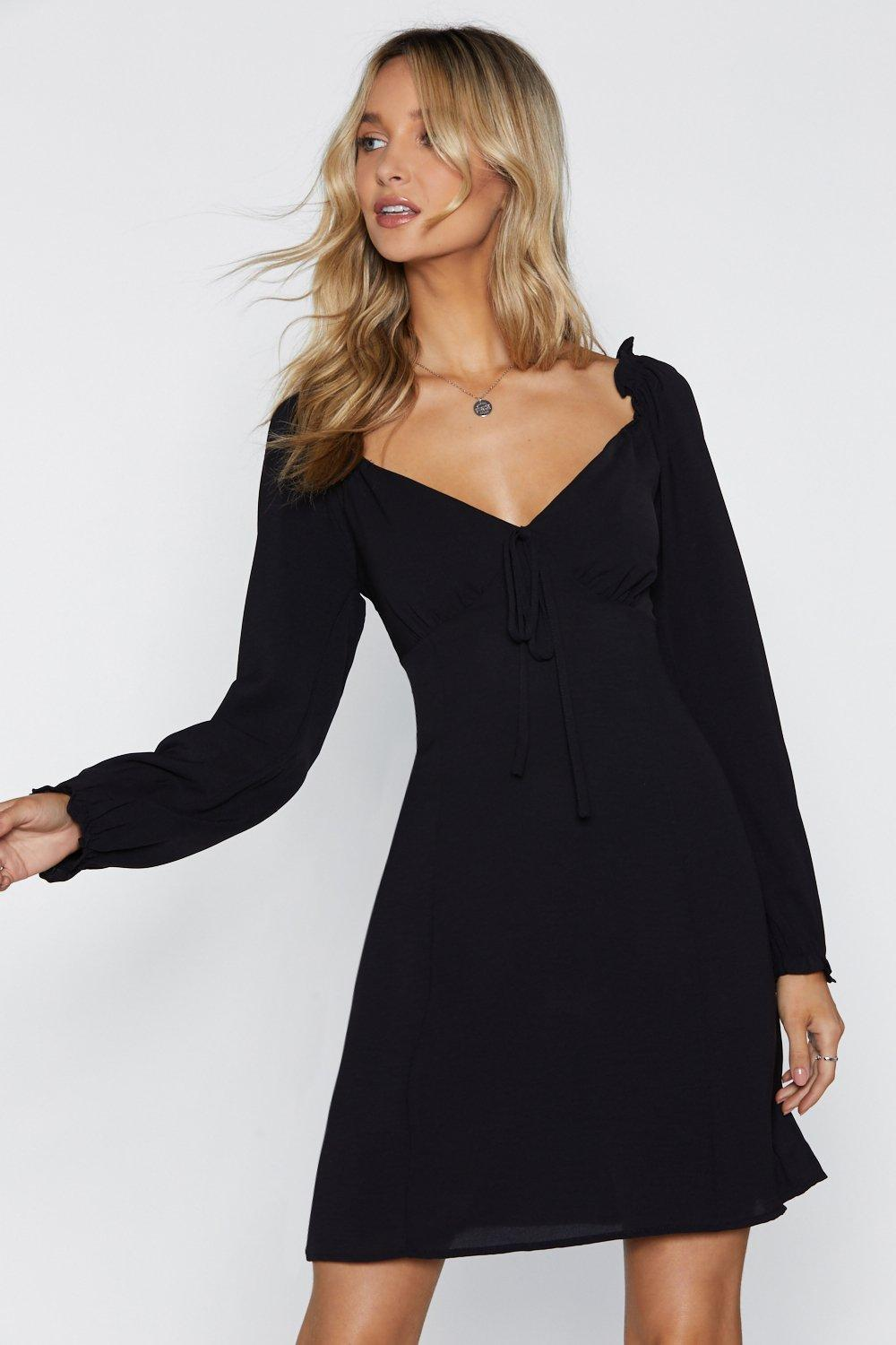 d5514e9671bb Straight From the Shoulder Fit   Flare Dress