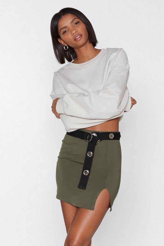 Wait A Mini Slit Skirt by Nasty Gal
