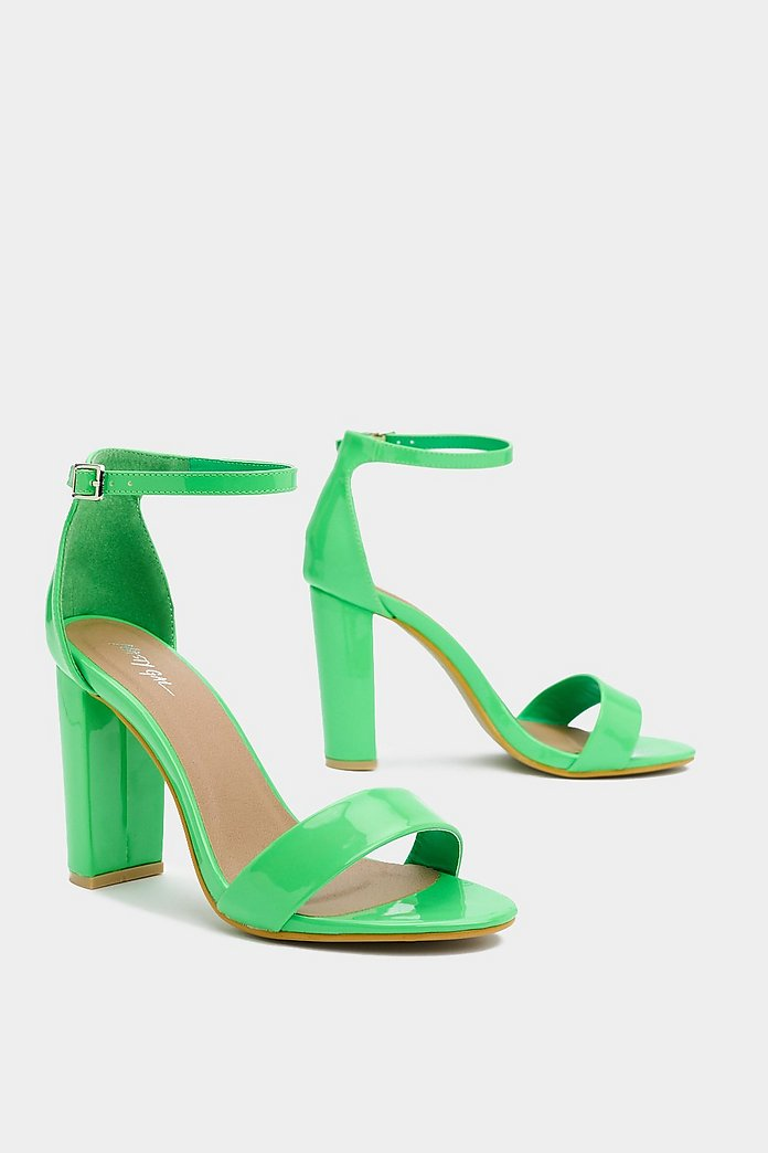 Get 'Em Before They're Neon Patent Heel | Nasty Gal