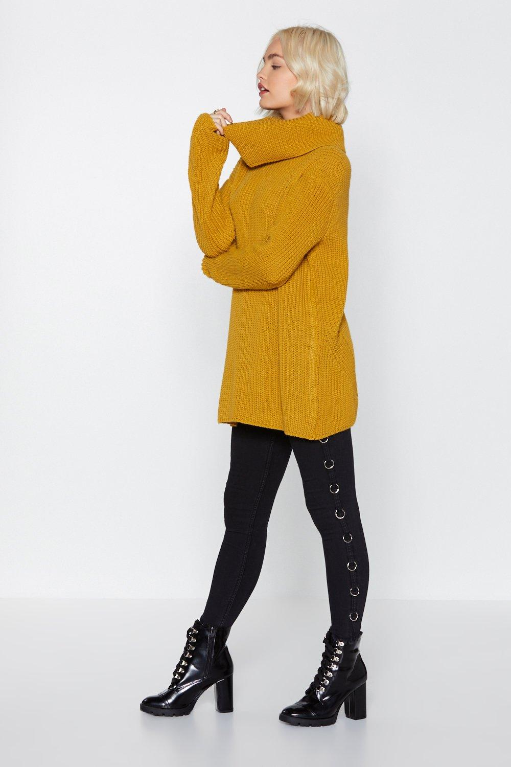 Over And Out Turtleneck Sweater Shop Clothes At Nasty Gal
