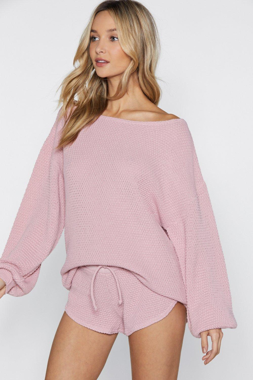 Knit Happens Sweater And Shorts Set by Nasty Gal