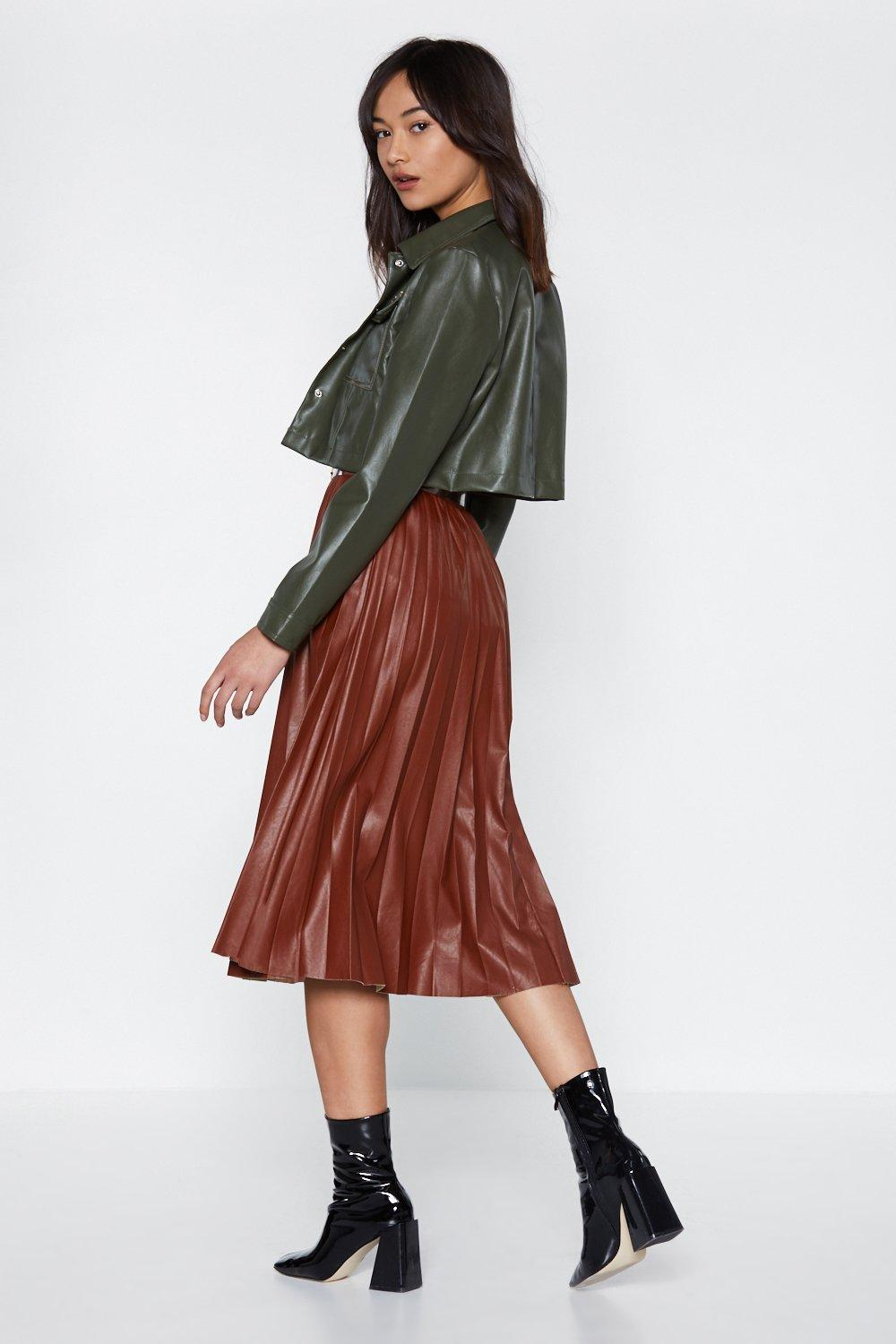 2b2e9d2baa Pleat Moves Faux Leather Skirt | Shop Clothes at Nasty Gal!