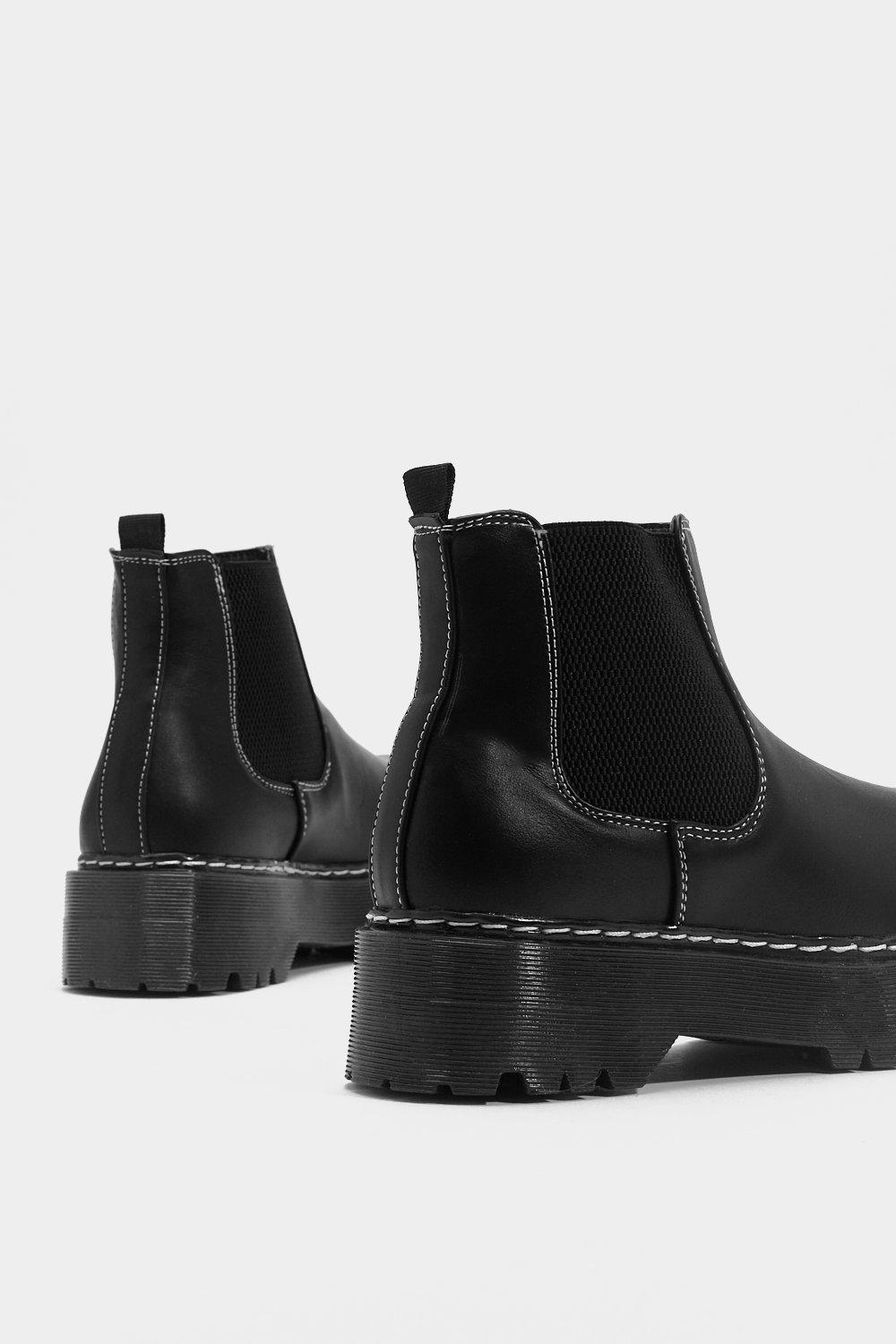 2b87383d6a3 Faux Leather Chunky Chelsea Boot | Shop Clothes at Nasty Gal!