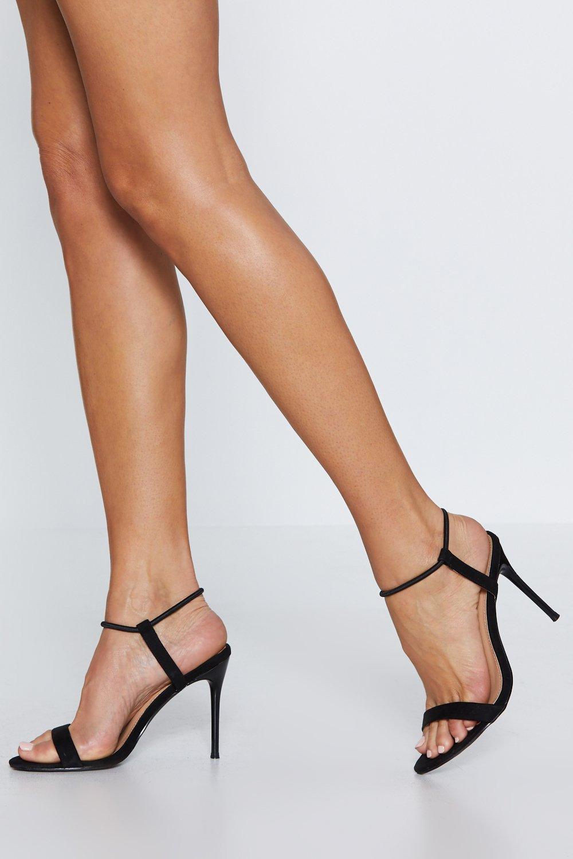e48524b50d55 Womens Black Make You Heel My Love Stiletto Heel