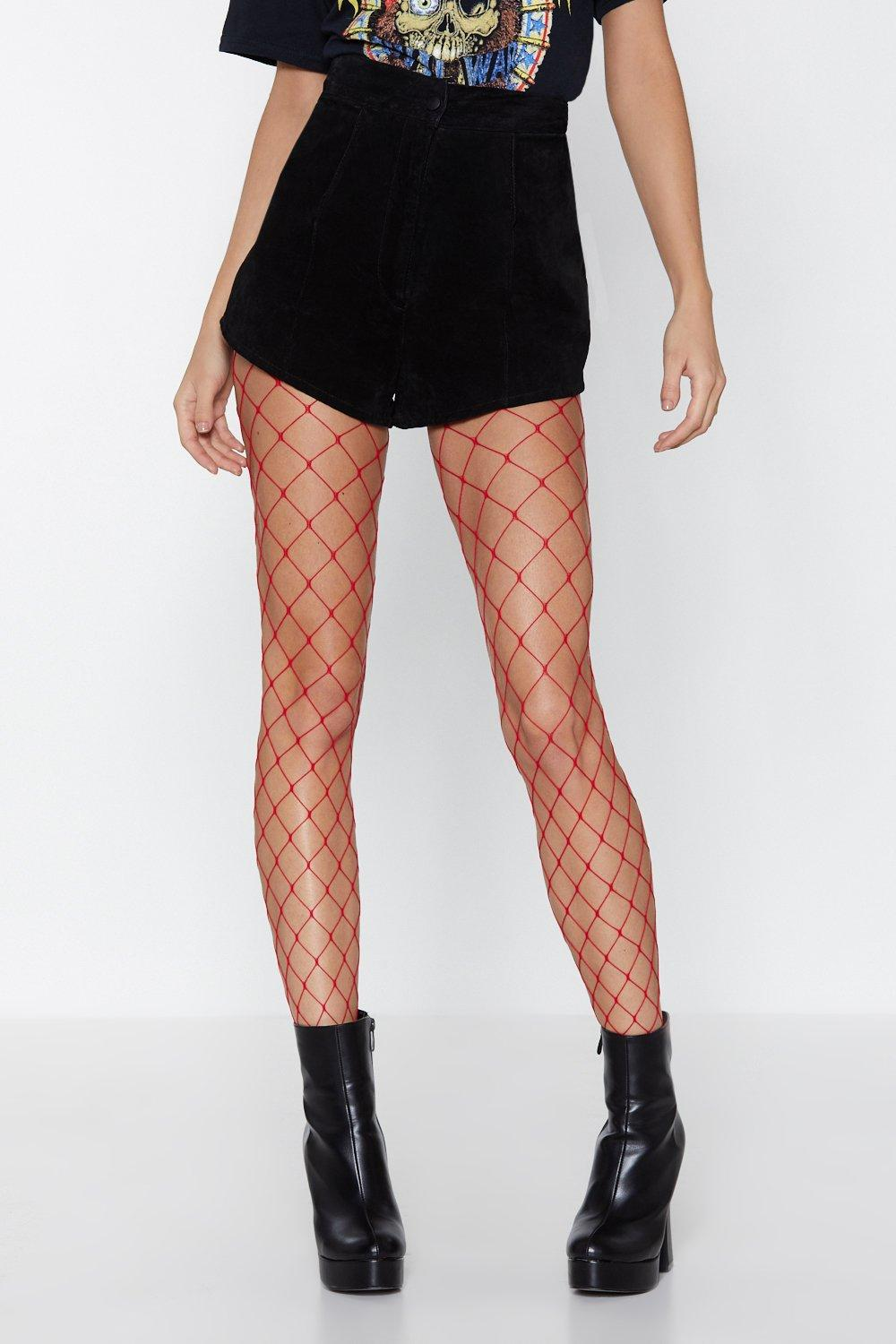 c5591e182 Womens Red Net For You Fishnet Tights