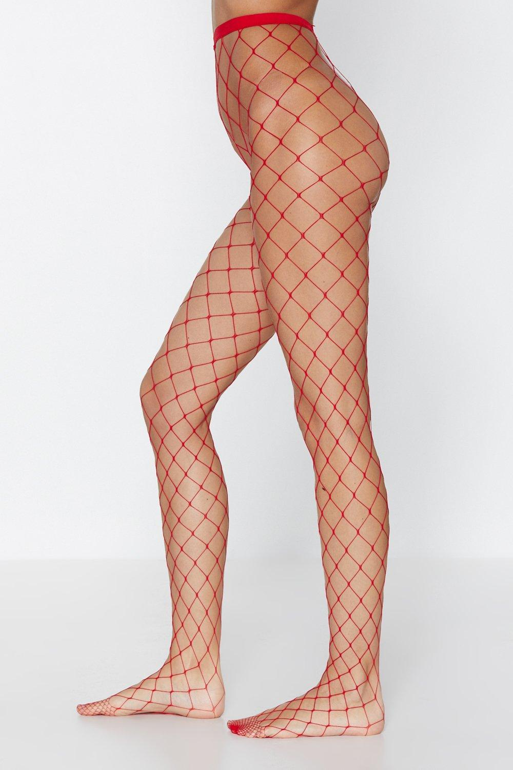 a9bb98322 Womens Red Net For You Fishnet Tights.