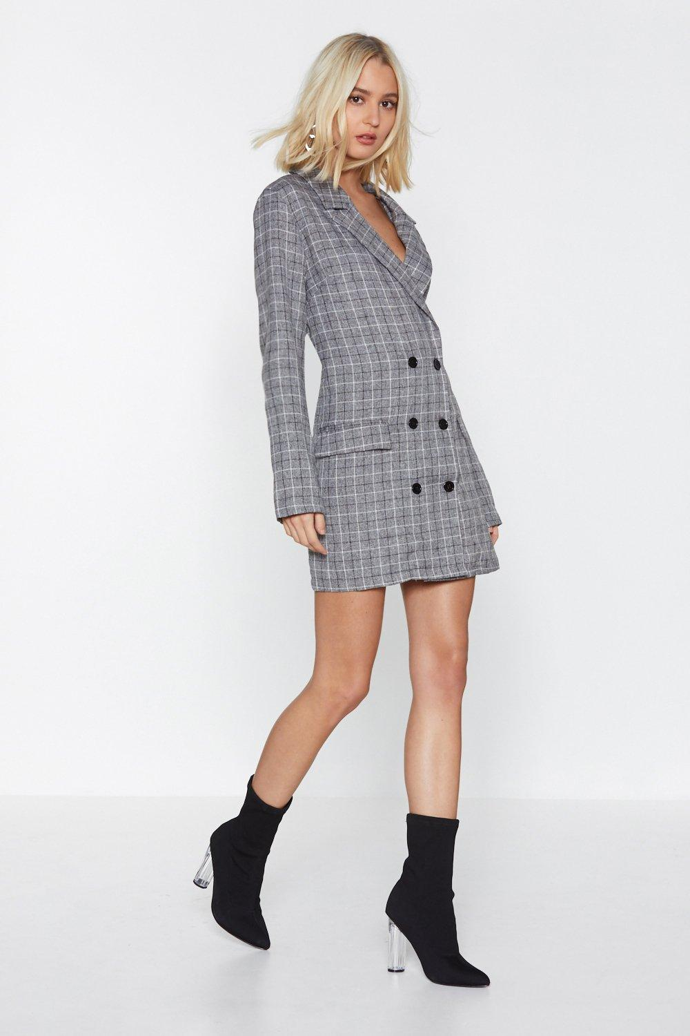 4814b51c75 Totally Checked Out Blazer Dress | Shop Clothes at Nasty Gal!