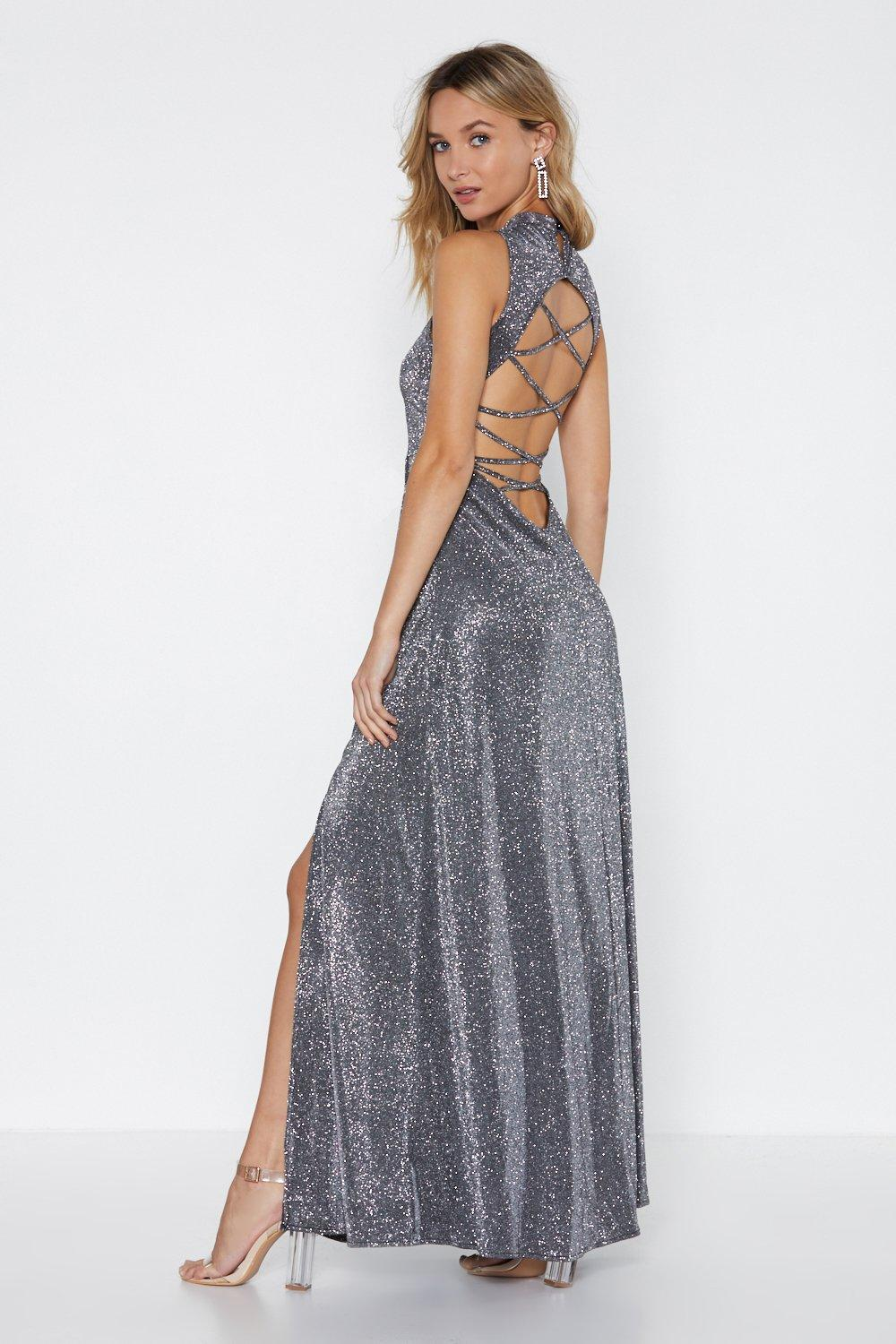 First Glitter Dress Maxi Nasty Gal At Clothes Shop Date FBUF7xv