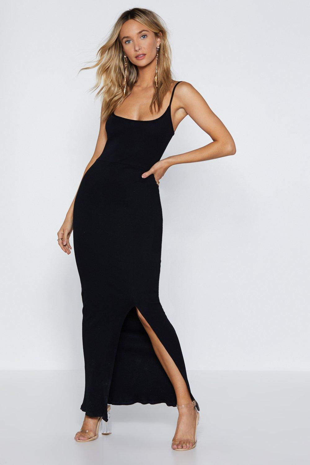 f5860530a72 Womens Black Take Me Out Maxi Dress. Hover to zoom