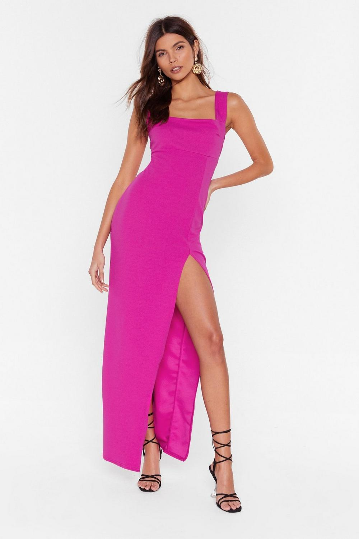 e556e94e386 Womens Hot pink Square With Me Maxi Dress