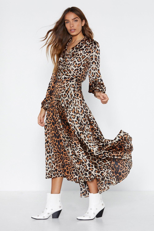 Image result for Good Feline Leopard Dress nasty gal