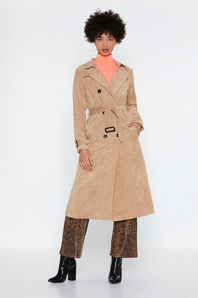 the best attitude fashion novel design Rain Check Corduroy Trench Coat | Shop Clothes at Nasty Gal!