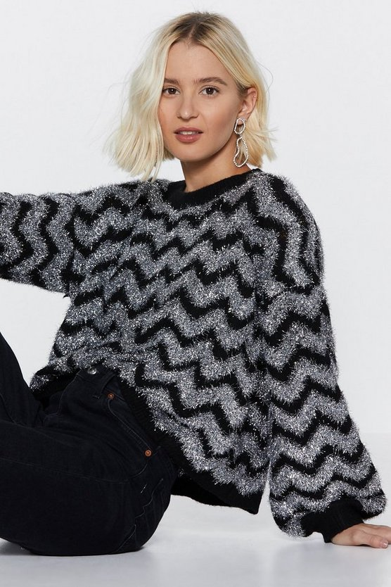 Don't Stop The Party Tinsel Sweater by Nasty Gal