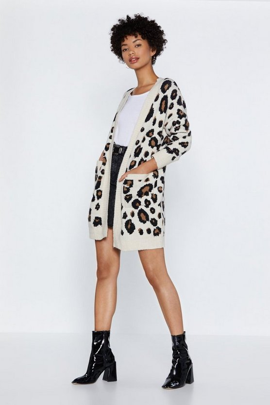 Hear Meow T Leopard Cardigan by Nasty Gal