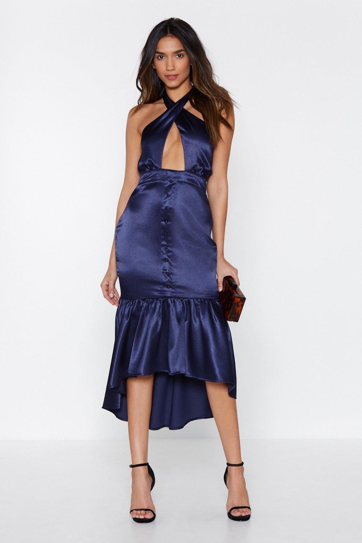 3d63a9f968 Robe mi-longue en satin Soirée Filles | Shop Clothes at Nasty Gal!
