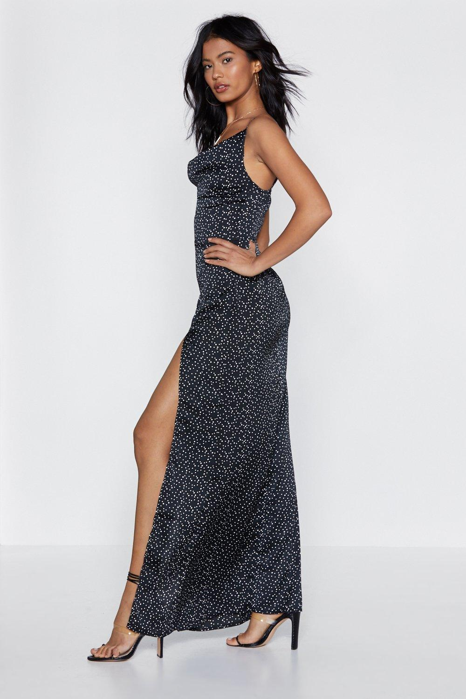 ecfc695558f Womens Black Love Vision Polka Dot Maxi Dress. Hover to zoom