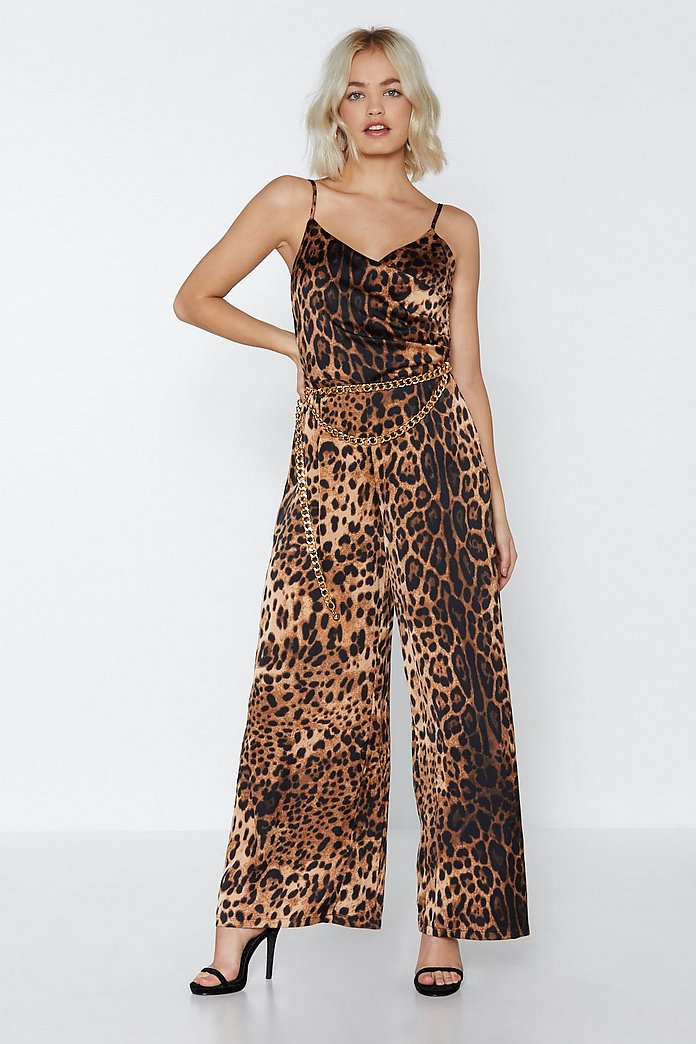on feet at durable modeling huge inventory Party Animal Leopard Jumpsuit | Shop Clothes at Nasty Gal!