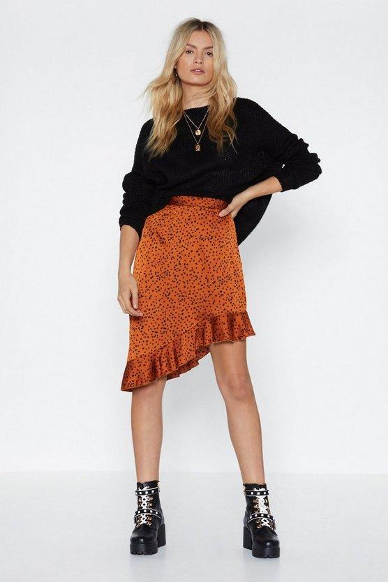 Dalmation Spot Design Midi Skirt by Nasty Gal