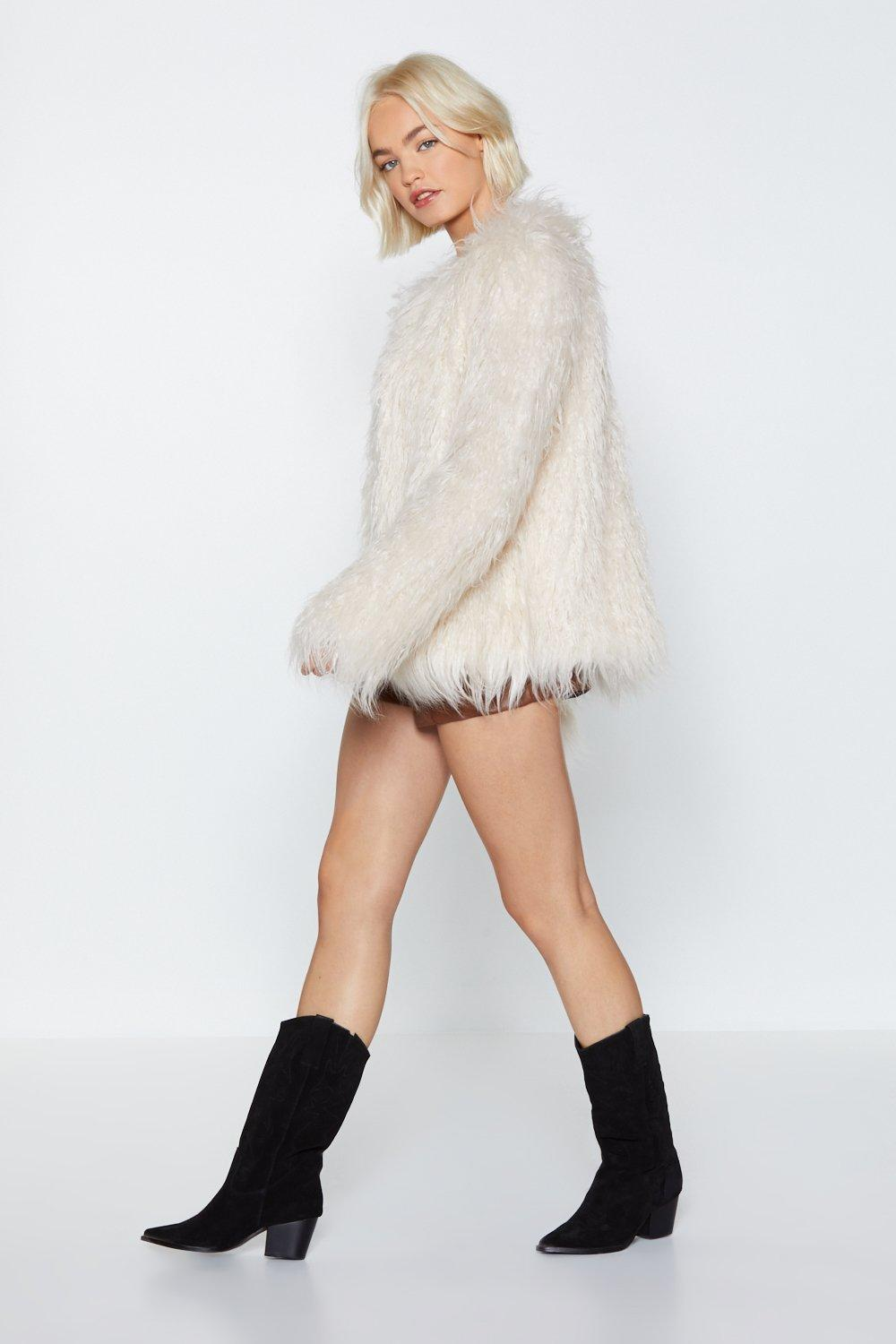 8895db28bf3c Groovy Baby Shaggy Faux Fur Coat. Hover to zoom