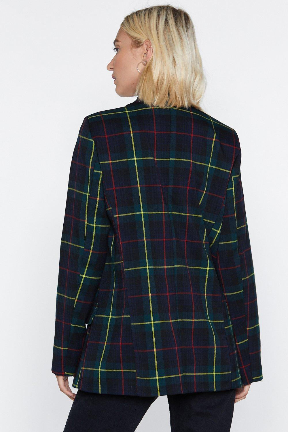 cd7964484 Let's Head Out Tartan Blazer   Shop Clothes at Nasty Gal!