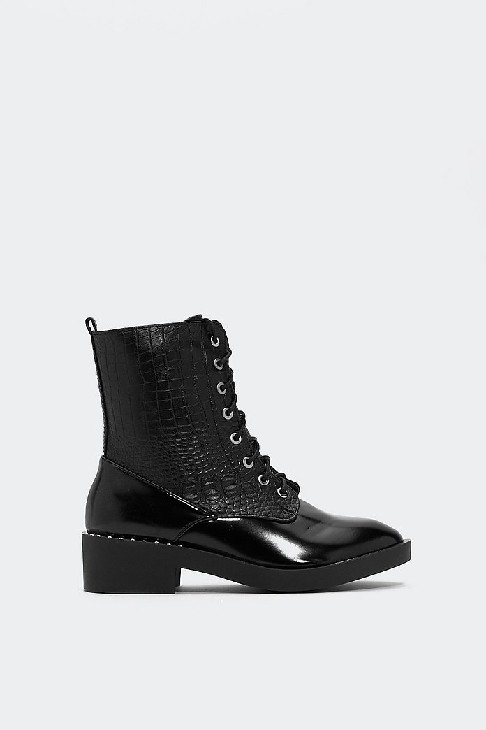Sending Croc Waves Biker Boot | Shop Clothes at Nasty Gal!