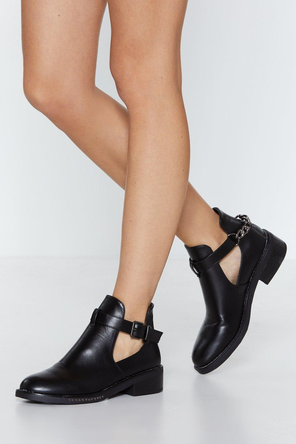 Feel Good Faux Leather Bootie by Nasty Gal