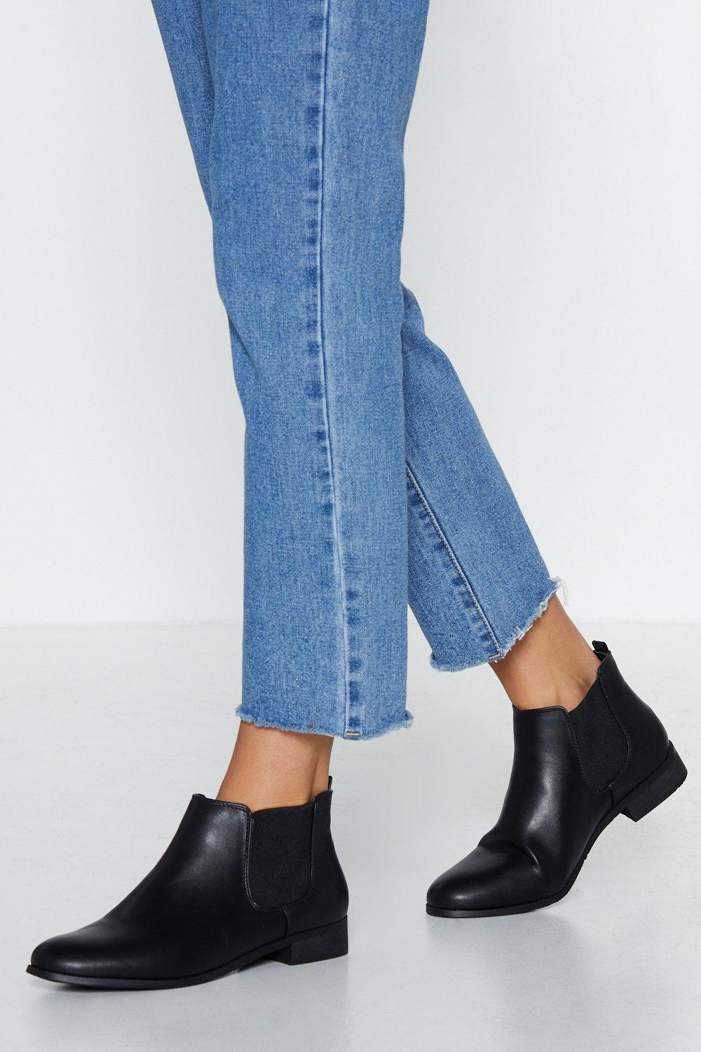 Flatter Me Chelsea Boot by Nasty Gal