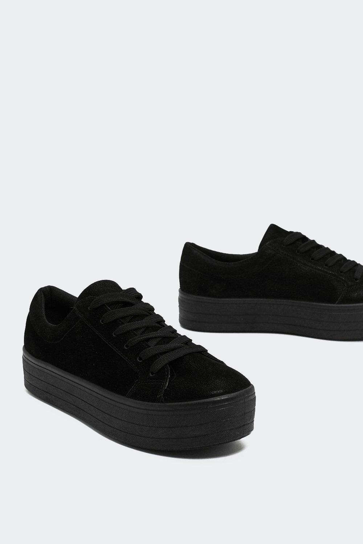 On Top Platform Faux Suede Sneaker by Nasty Gal