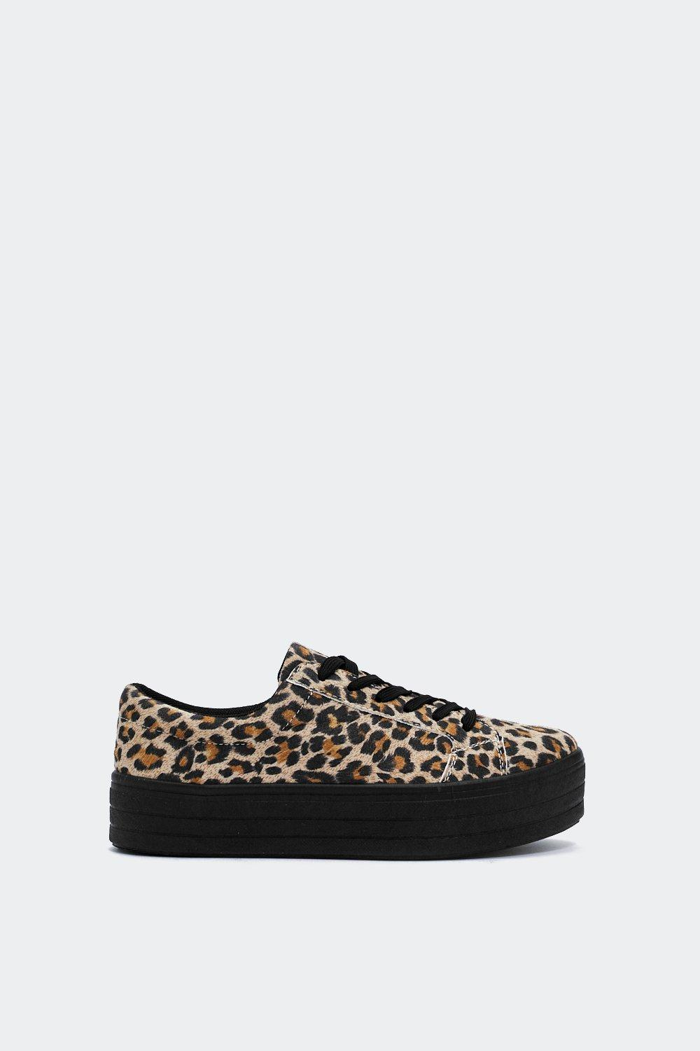 6518e774caed Womens Brown On Top Platform Leopard Sneaker