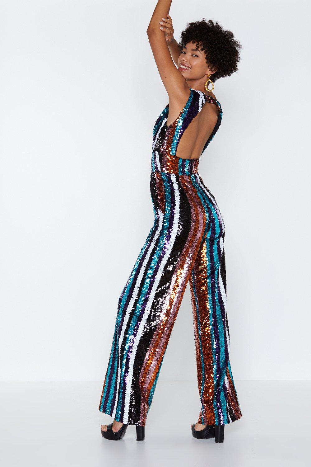 7950c99fbda Let s Get It Started Sequin Jumpsuit