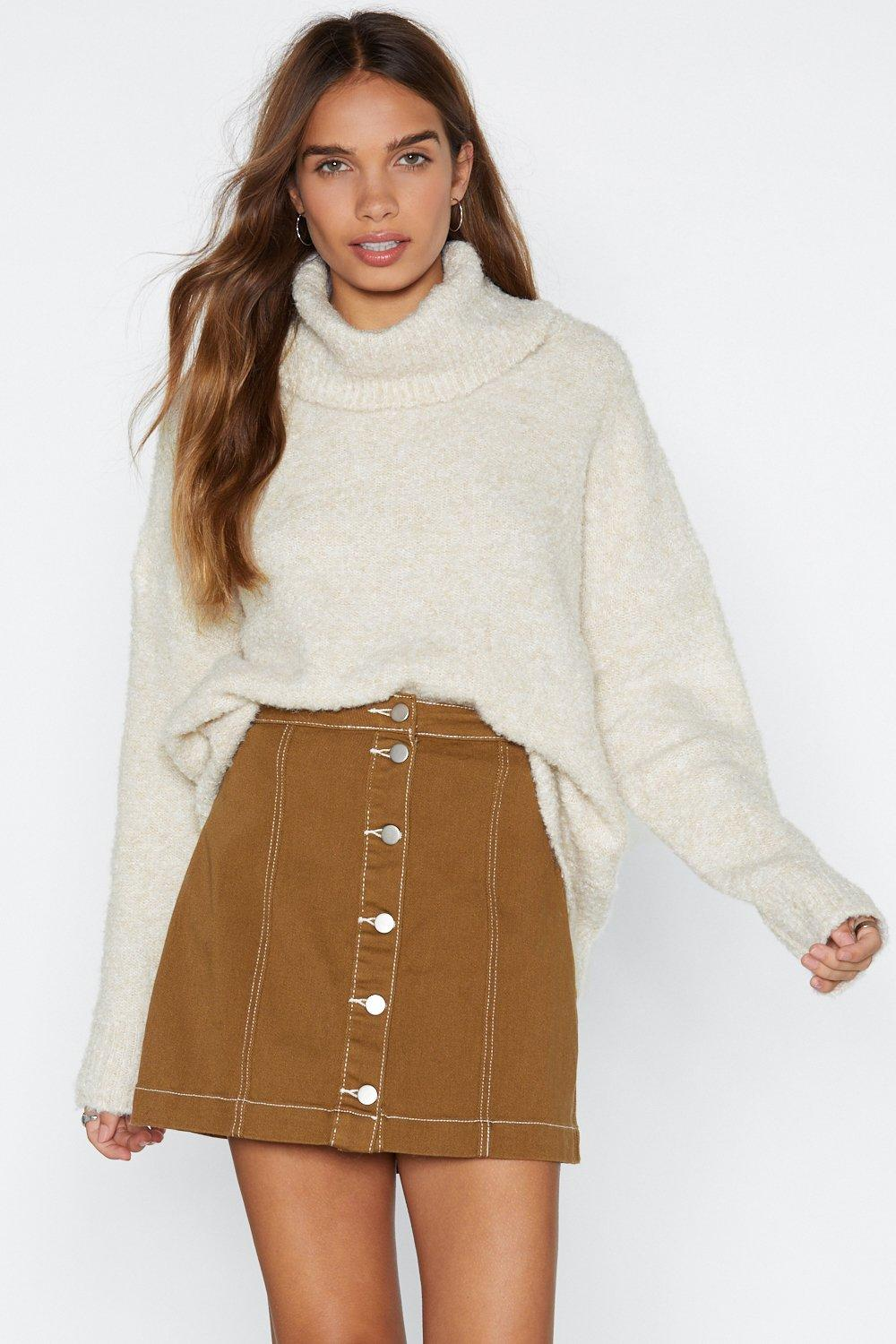 38d5205a897 Womens Cream Oversize Up the Competition Turtleneck Sweater