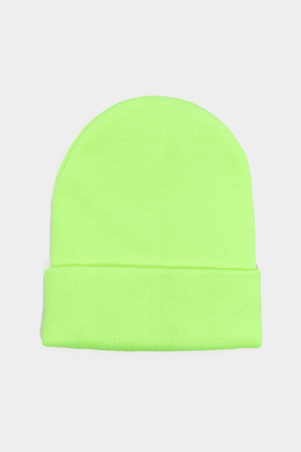 0845b1d64eb63 Womens Green Rave It Up Neon Beanie.