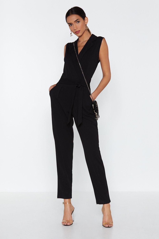 373e75b7fc5 Suit Up Tuxedo Jumpsuit