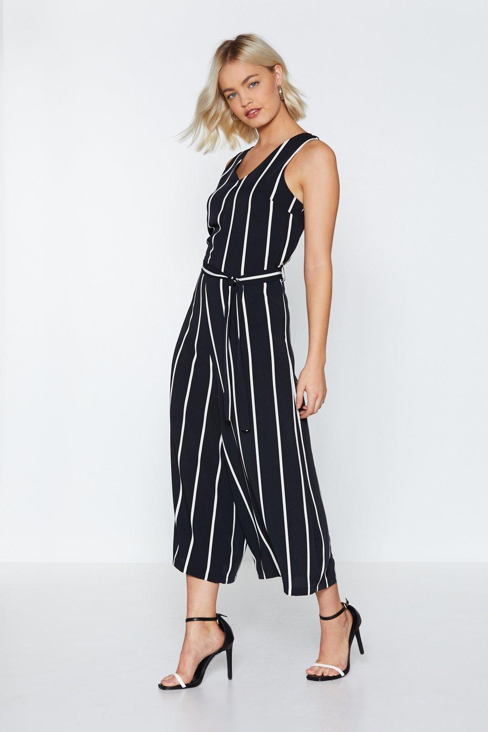 Stripe Down To It Wide Leg Jumpsuit Shop Clothes At Nasty Gal