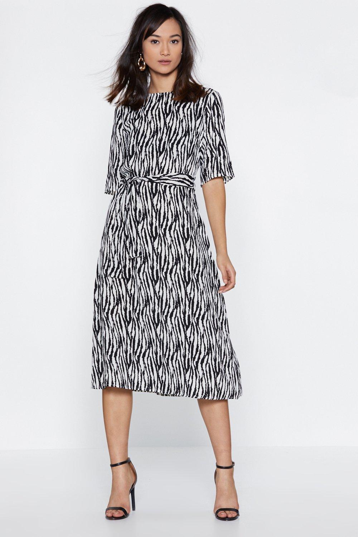 9698958505ac Zebra Crossing Midi Dress   Shop Clothes at Nasty Gal!