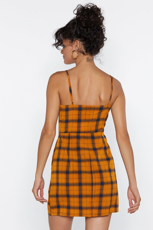 8c39b71142345 Womens Mustard Clueless Plaid Mini Dress. Womens Mustard Clueless Plaid  Mini Dress.