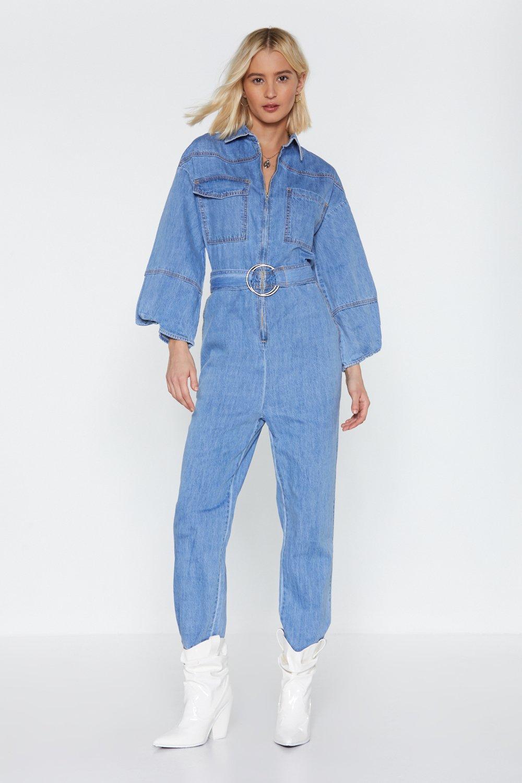 Jean Genie Denim Jumpsuit Shop Clothes At Nasty Gal