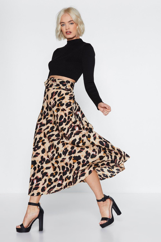 3c2450e575 So Fierce leopard Midi Skirt | Shop Clothes at Nasty Gal!