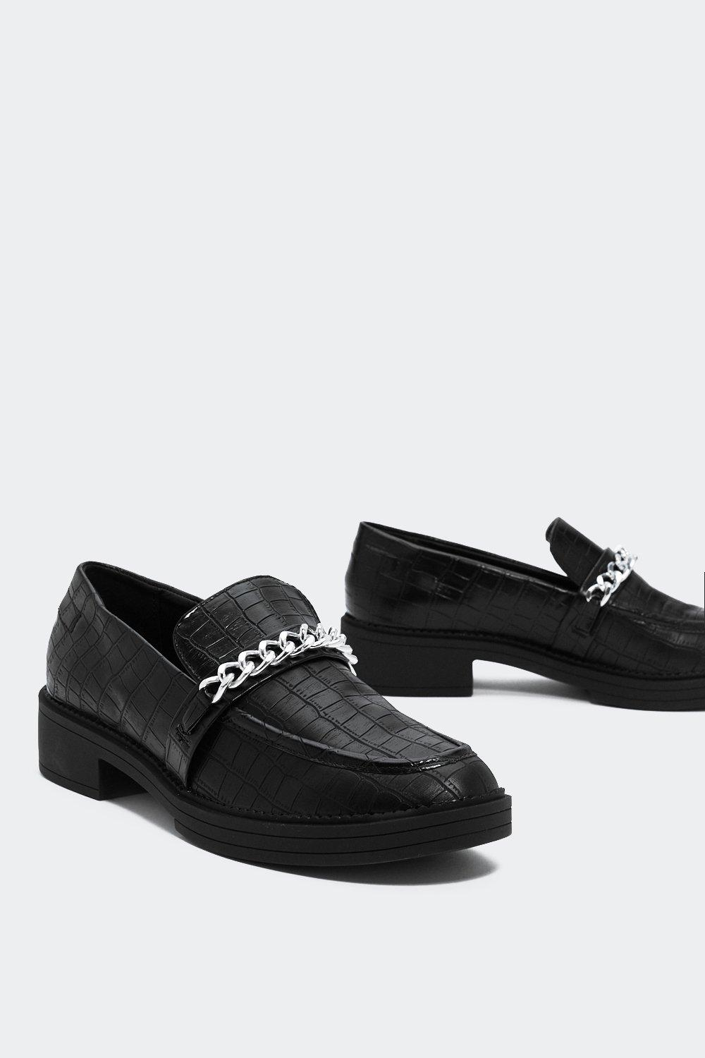 Tramp Stamp Croc Loafer by Nasty Gal