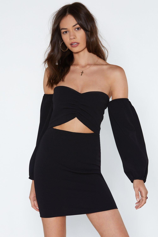 bb7f96a2dc0dd0 I'm Cut-Outta Love Off-the-Shoulder Dress | Shop Clothes at Nasty Gal!