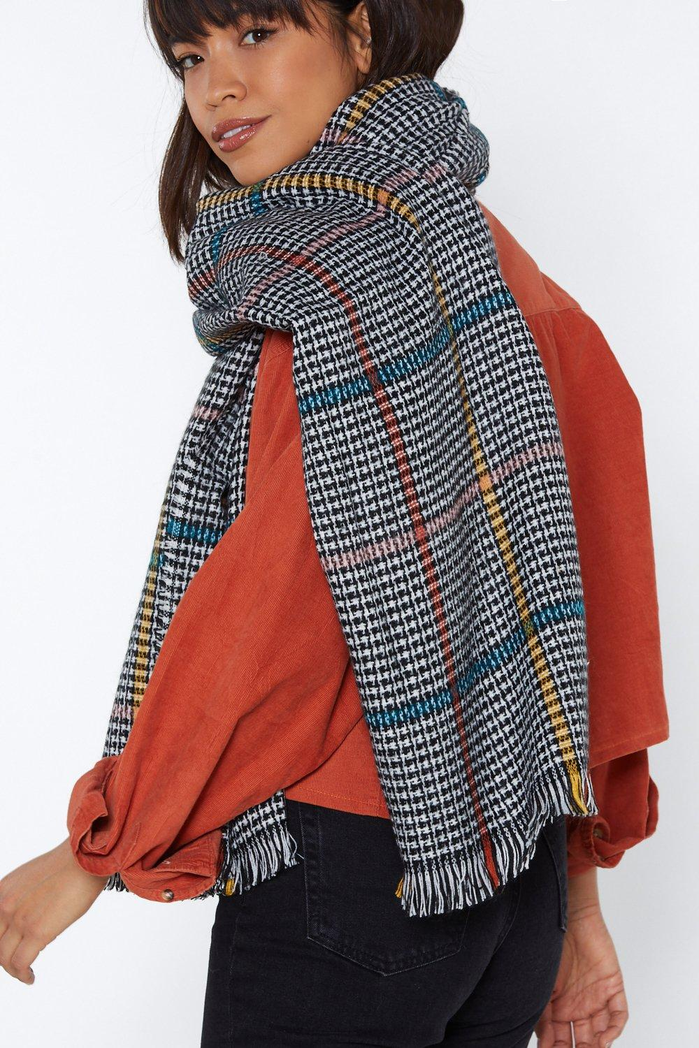 16d3ef96a770d Hang on a Check Oversized Scarf | Shop Clothes at Nasty Gal!