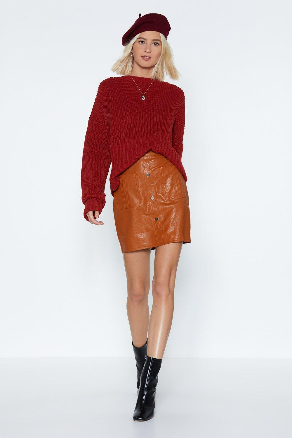 f42957bb5 Button-Down on Me Faux Leather Skirt | Shop Clothes at Nasty Gal!