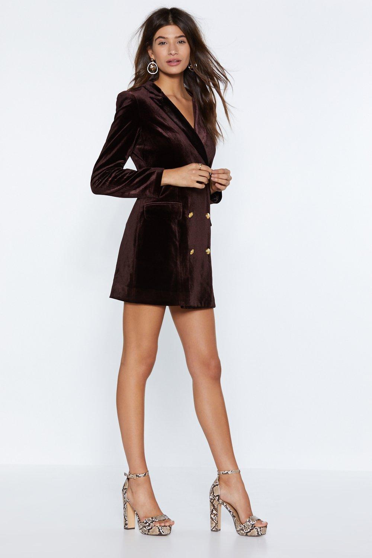 88316ab73484 I'm Busy Velvet Blazer Dress | Shop Clothes at Nasty Gal!