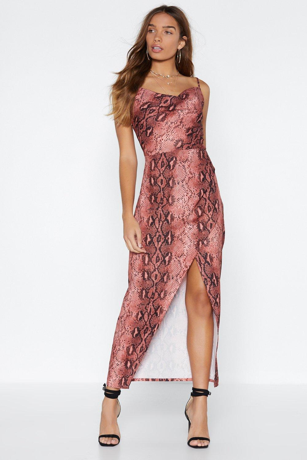3c7821ed5310 That Snakes Care of That Midi Dress