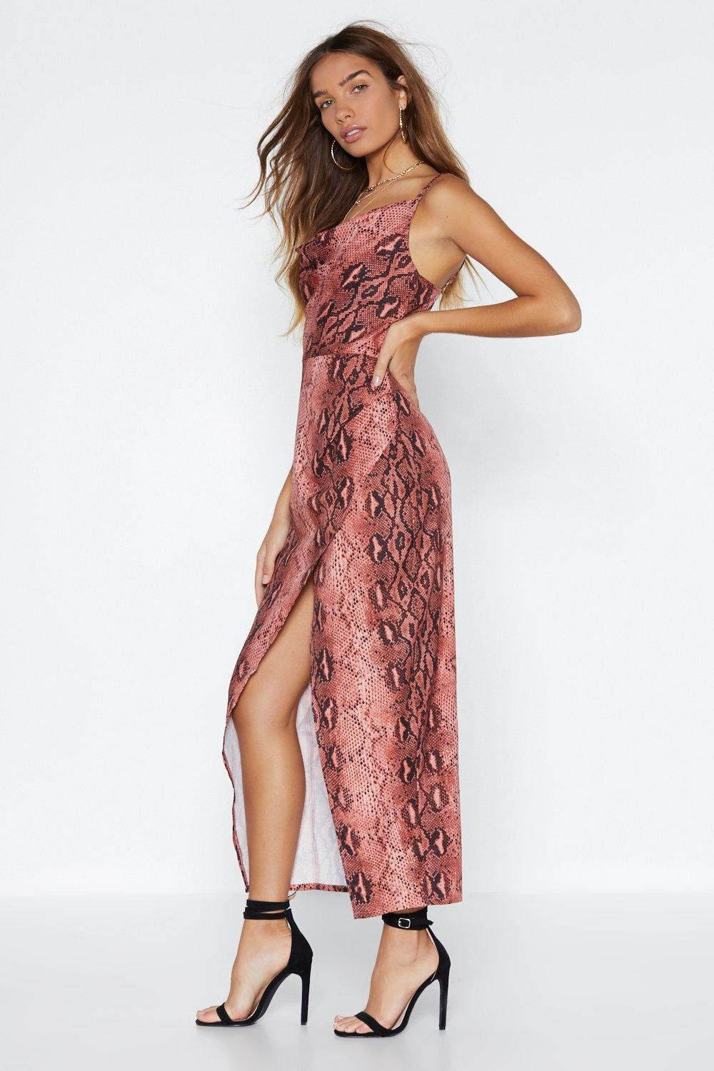 7bd762cd3c17 Hover to zoom · That Snakes Care of That Midi Dress