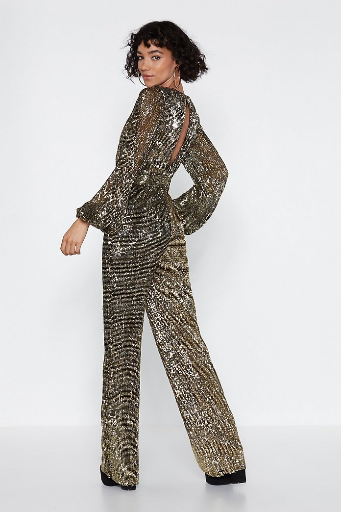 uk store great variety models great fit Disco with It Sequin Jumpsuit   Shop Clothes at Nasty Gal!
