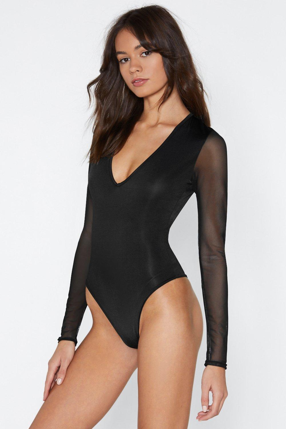 d9a3e2a83628 Sheer Goes Nothing Mesh Plunge Bodysuit | Shop Clothes at Nasty Gal!