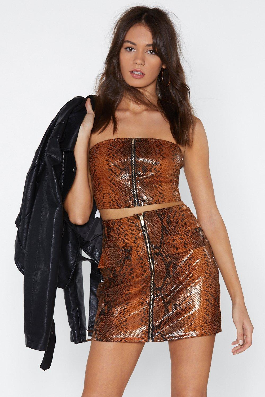 9919c55bcfd81b Snake Me Bandeau Top and Mini Skirt Set